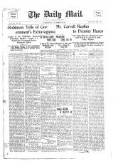 Front page of the Daily Mail: March 8th, 1910