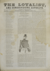 Front page of the Loyalist and Conservative Advocate from June 6th, 1844
